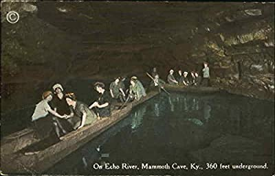 On Echo River Mammoth Cave, Kentucky Original Vintage Postcard