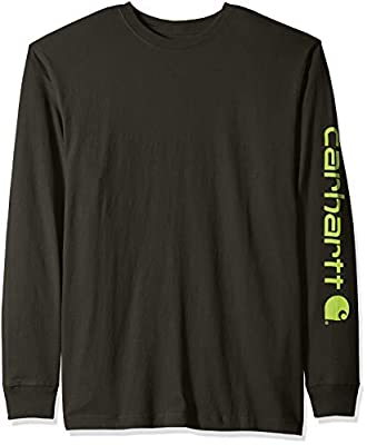 Carhartt Men's Signature Logo Long Sleeve T Shirt K231