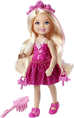 Barbie DKB57 Endless Hair Kingdom Chelsea Doll, Pink (Pink Chelsea)