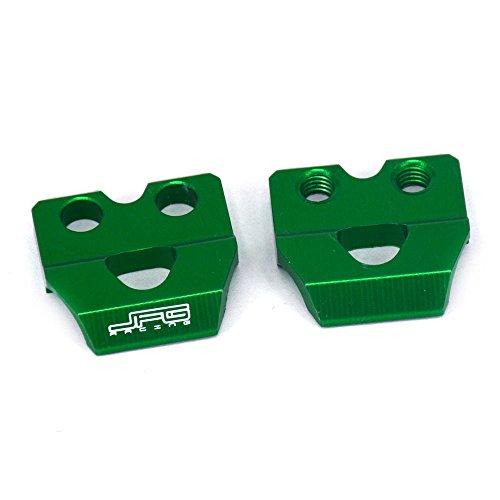 JFG RACING Green CNC Billet Aluminum Brake Line Hose Clamp Holder For Kawasaki KX65 KX125 KX80 KX85 KX100 KX250F KX450F KLX450R ()