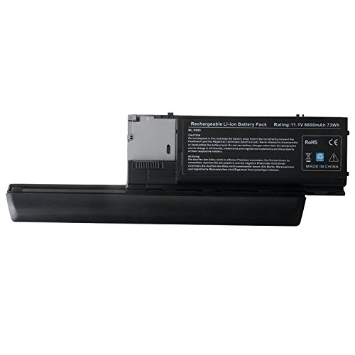 TAUPO New Laptop Battery for Dell Latitude D630 D620, Precision M2300 fits P/N PC764 PP18L TC030 PC764 JD634 312-0383 312-0386 RD301 PD685 TD175 [6600mAh, 11.1V] - 12 Months Warranty
