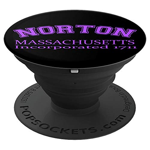 (Norton, MA Massachusetts Established 1711 Purple PopSockets Grip and Stand for Phones and)