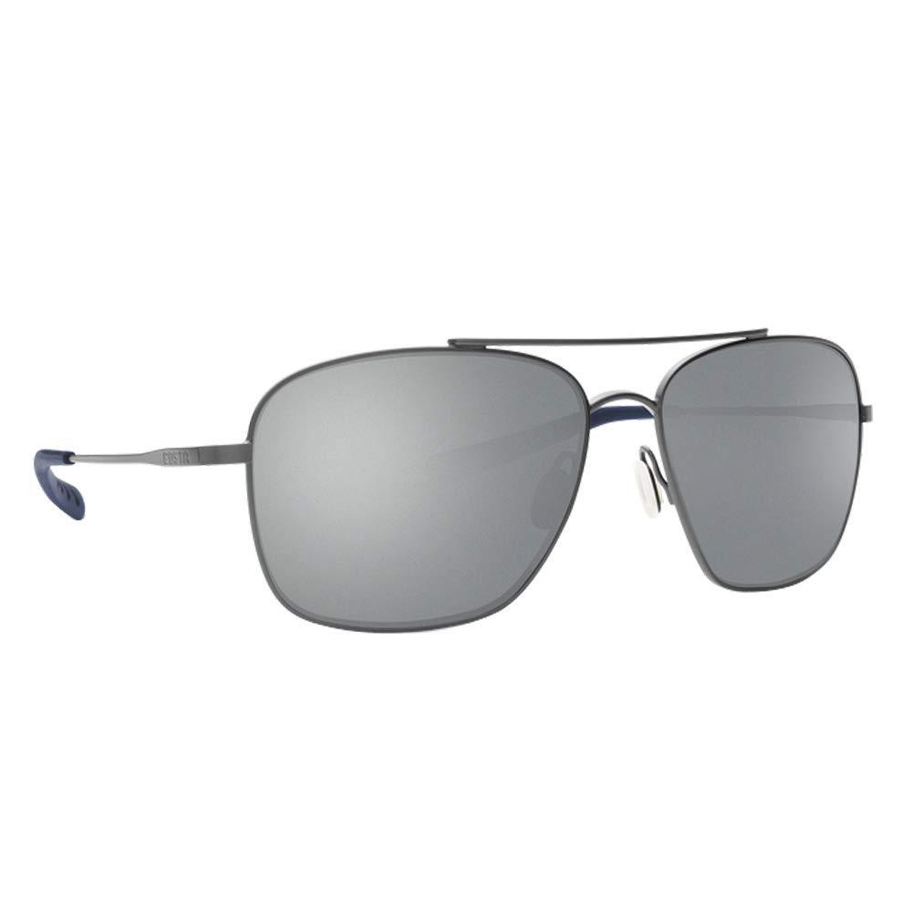 Costa Del Mar Canaveral Sunglasses Brushed Gray/Gray Silver Mirror 580Plastic