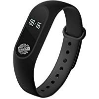 Mobicell iPhone 5S Compatible Fitness Tracker OLED Screen Display Smart Wristband Bluetooth 4.0 Waterproof with Heart Rate Monitor   Sleep tracker