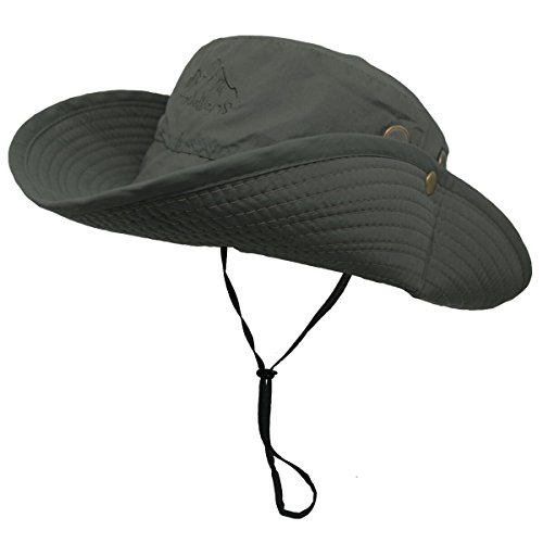 OMECHY Waterproof Outdoor Bucket Mesh Hat Summer UV Protection Sun Cap Boonie Fishing Camouflage Hat,Army Green