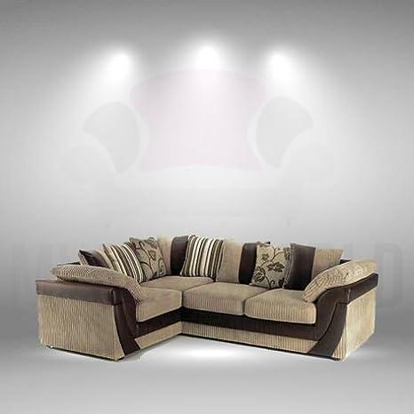 Zara, Super cómodo café tela sofá de esquina, tela, Left ...