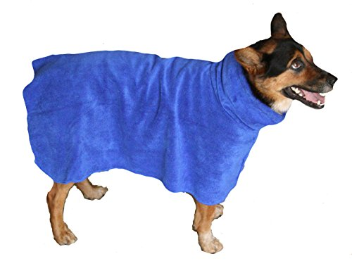 THE SNUGGLY DOG Easy Wear Dog Towel. Luxuriously Soft, Fast Drying 400gsm Microfiber. Soft Belt Included for a Warm…