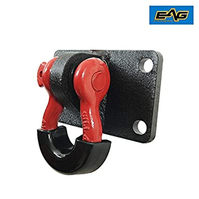 EAG D-Ring Shackles with Mount Red D-Rings Black Isolators Mount Brackets Pair: Automotive