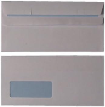 PLAIN WINDOW 90 gsm WHITE self-seal business envelopes Cheap UK