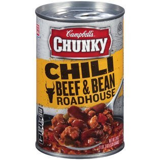 Campbell's Chunky Roadhouse Beef & Bean Chili 19 Oz (Pack of (Chunky Beef Stew)