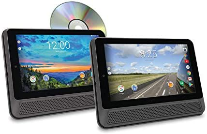 RCA Dual 10 inches Fast Quad Core Tablets 16GB & DVD Player Combo - 2 Tablets 1 DVD Player Kit Touchscreen WiFi with Android OS