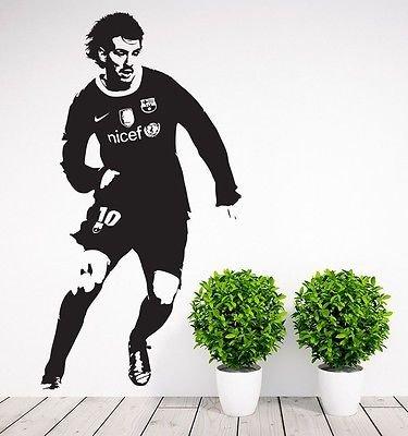 Leo Messi Barcelona Soccer Player Football Wall Decal Decor Wall Art (Leo Stencil)