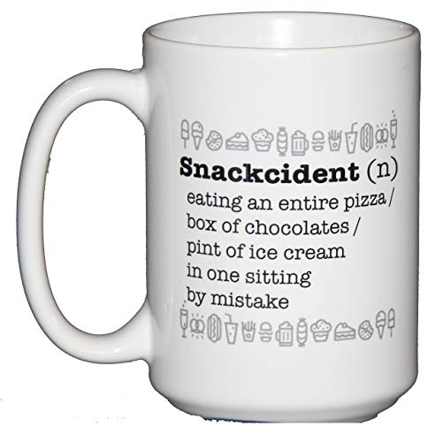 Snackcident Definition Funny Coffee Mug Humor - Nom Nom Nom