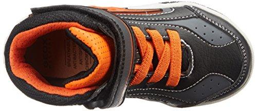 Geox JR GREGG C - zapatillas deportivas altas de material sintético niños multicolor - Mehrfarbig (C0038BLACK/ORANGE)