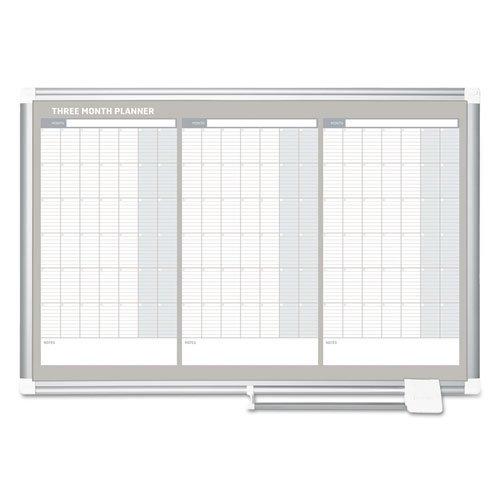MasterVision GA03204830 Magnetic Dry Erase Calendar Board, 36 x 24, Silver Aluminum Frame