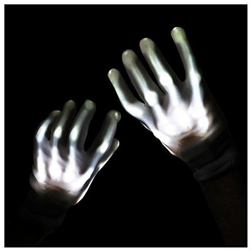 - DX DA XIN Light up Gloves, LED Rave Gloves Glow Finger Light Gloves Toys 6 Adjust Modes