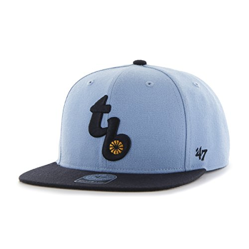 ('47 MLB Tampa Bay Rays Sure Shot Two Tone Captain Wool Adjustable Hat, One Size, Columbia)