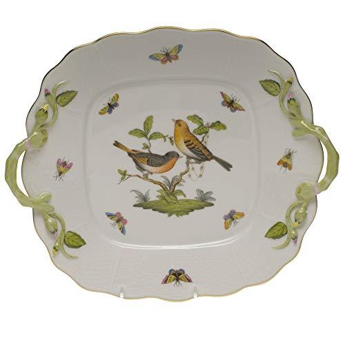 Herend Rothschild Bird Square Porcelain Cake Plate