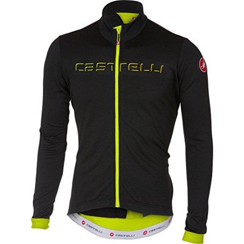 Castelli Fondo Full-Zip Long-Sleeve Jersey - Men's Light Black/Yellow Fluo, ()