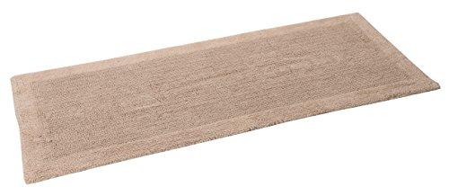 "TrendSetter Homez MEGA Sales Dakar Stripe Extra Large Elite Single Bath Rug 100% Cotton Hand Tufted Heavy Bathmat Size 24"" x 60"" Machine Washable Bathroom Rug (Sand) -  - bathroom-linens, bathroom, bath-mats - 41Q1pHvifEL -"