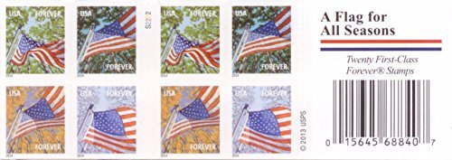 (USPS Forever Stamps A Flag for All Seasons Booklet of)