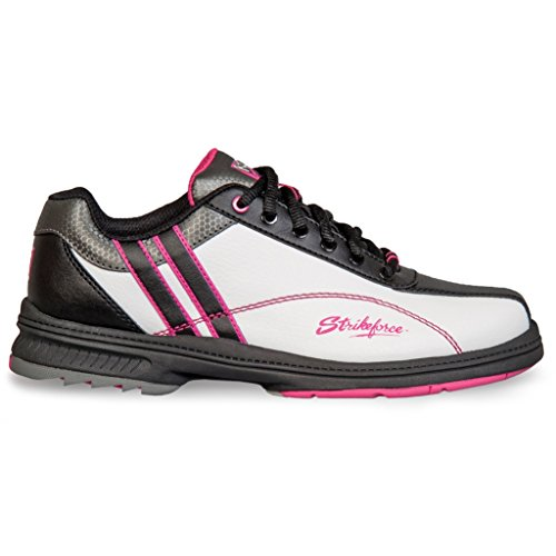 kr-strikeforce-l-901-090-starr-bowling-shoes-white-black-pink-size-9