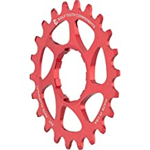 Wolf Tooth Components Single Speed Aluminum Cog: 22T, Compatible with 3/32 Chains, Red by Wolf Tooth Components