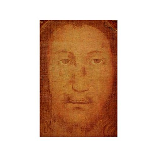 Jesus Holy Face Shroud Manoppello Natural Linen Cloth Fabric ()