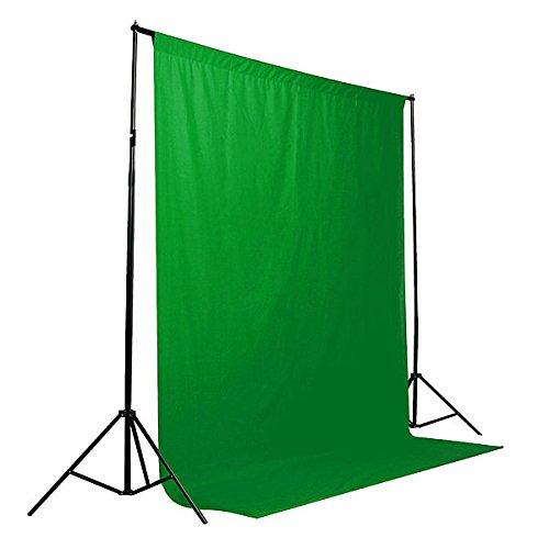 Photo Backdrop Screen - Photo Backdrop Background Screen - 5 Colors Screen/Chromakey Backdrop 6x9 Muslin Video Background - Green (Photo Screen Backdrop) -