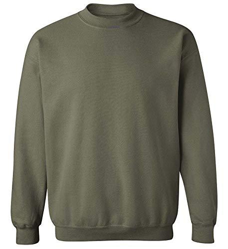 (Joe's USA - Soft & Cozy Crewneck Sweatshirts, L Military Green)