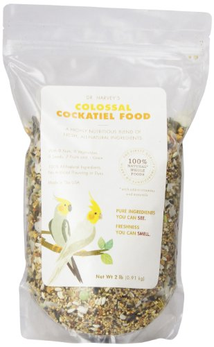 Dr. Harvey'S Colossal Blend Natural Food For Cockatiels, 2-Pound ()