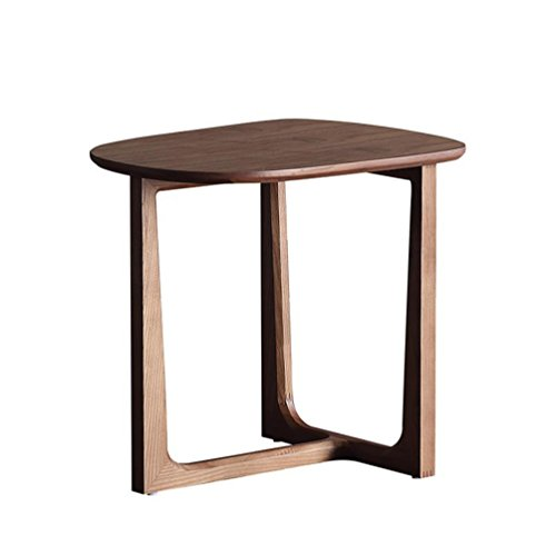 AIDELAI Folding Table- Wooden Coffee Table, Round Bedside Table Sofa Side Table Small Dining Table,524148cm Table ()