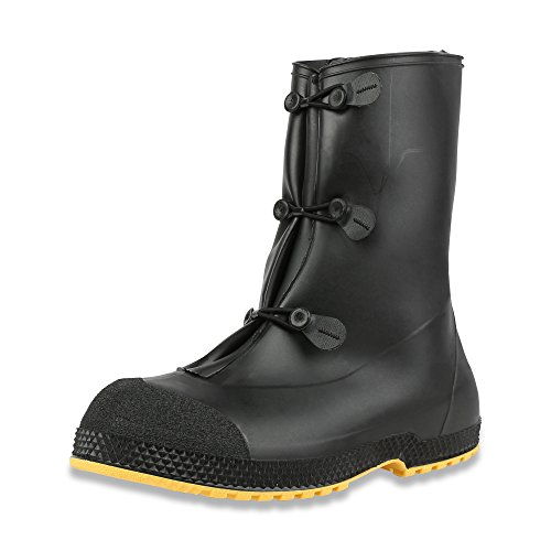 "Servus SuperFit 12"" PVC Dual-Compound Men's Overboots, Black & Yellow (11002B-Boxed) - Image 7"