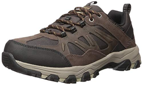 Skechers Men's SELMEN-ENAGO Trail Oxford Hiking Shoe, Chocolate, 13 Medium US