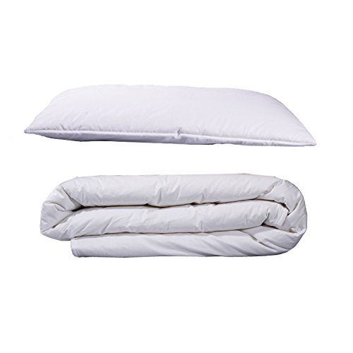 Little Lana - Wool Junior/Toddler Set Duvet 300gsm (120 x 150cm) Folding Pillow 60 x 40cm Devon Duvets