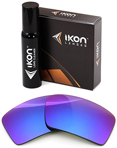 Polarized Ikon Iridium Replacement Lenses For Oakley Eyepatch 2 Sunglasses - Violet - Oakley Lens Violet Iridium