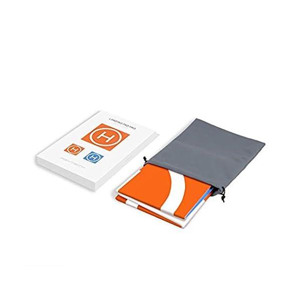 Changlesu RC Drone Landing Pad impermeabile PU portatile pieghevole tappetino di atterraggio per DJI Mavic Air/Mavic Pro/Spark, con borsa per il trasporto, design a doppia faccia 6 spesavip