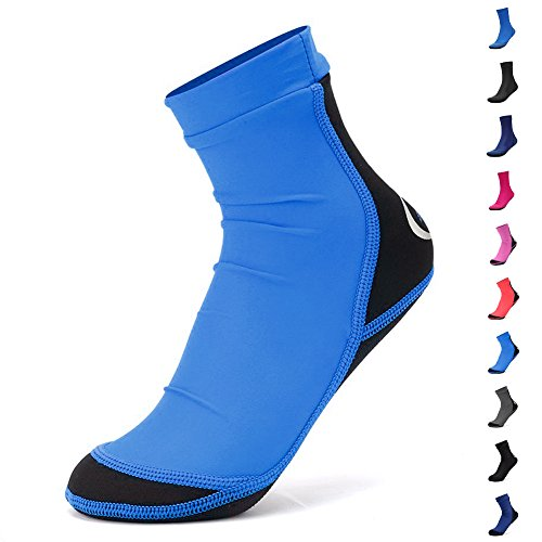 FANTINY Lycra Beach Socks For Sand,Lake,Swimming Playing Volleyball,Soccer Activities - Kids, Women and Men,SB01,Blue,S