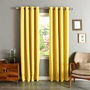 Amazon.com: Gorgeous Home 72 1 PANEL SOLID YELLOW 63quot; LONG THERMAL FOAM LINED BLACKOUT HEAVY