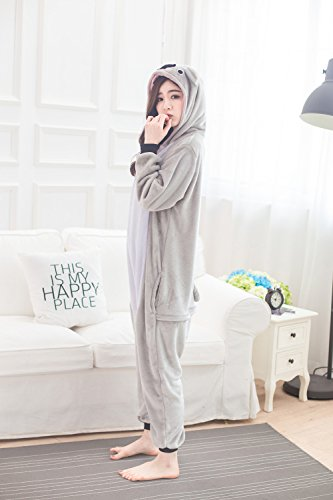 Babyonlinedress Pijama de adulto de una pieza con diseño de animal sudadera de disfraz de cartoon holgado y cómodo con capucha koala