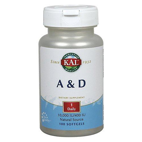 KAL - Vitamin A & D, 10000/400 IU, 100 softgels