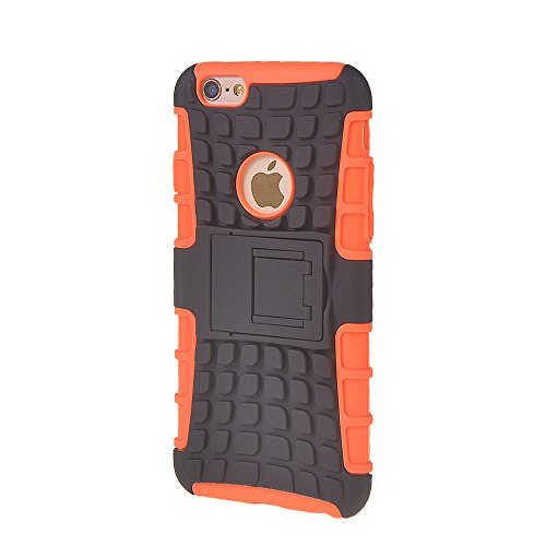 iPhone 6 Fundas,COOLKE [Blanco] Duro resistente Choque Heavy Duty Case Hybrid Outdoor Cover case Bumper Para Apple iPhone 6 (4.7 inch) Naranja