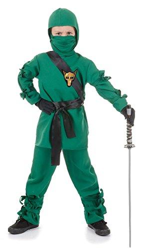 [Underwraps Child Ninja Costume] (Green Ninja Boy Costume)