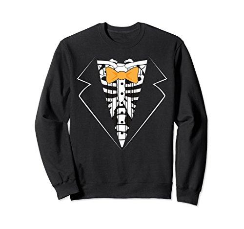 Sweatshirt Tux (Unisex Halloween Tux Sweatshirt, Funny Cute Costume Gift XL: Black)