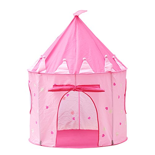 DIY Creations Pink Play Tent Glow in Dark Stars Crown Girl Princess Castle Indoor Outdoor Birthday Party by DIY Creations