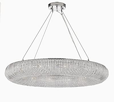 "Crystal Halo Chandelier Modern / Contemporary Lighting Floating Orb Chandelier 60"" Wide - Good for Dining Room, Foyer, Entryway, Family Room and More!"