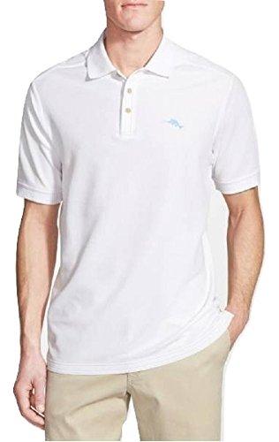 Tommy Bahama Emfielder Polo Golf Shirt (Color True White, Size XL)