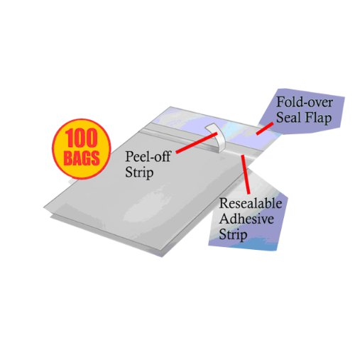 (Ultra Pro Pack of 100 One Touch Resealable Poly Bags Sleeves for Card)