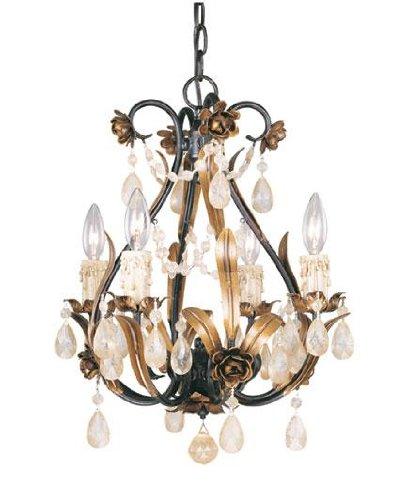 Savoy House 1-4006-4-16 Mini Chandelier 4 Light Chandelier in Antique Copper,