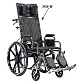 "Sentra Full Reclining Wheelchair - 18""W x 18""D Desk Length Arms, Swingaway Elevating Legrests"